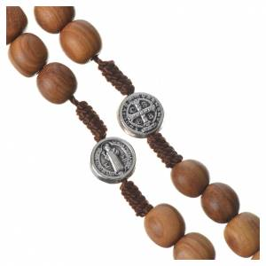 Rosary with grains in Medjugorje olive wood, Holy Spirit medal s3