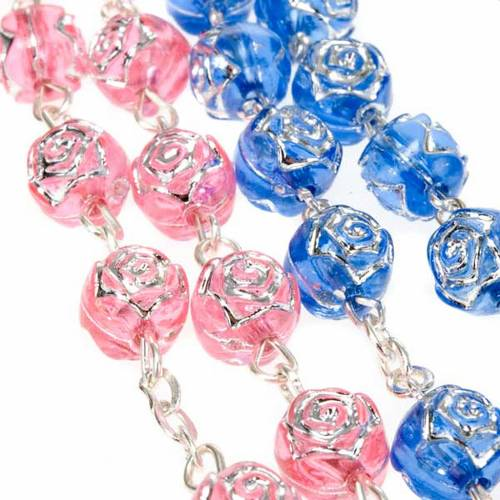 Rosary with rose-shaped beads s5