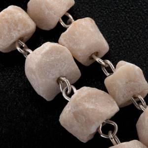 Medjugorje Rosenkränzen: Rosenkranz von Medjugorje aus weißem Stein