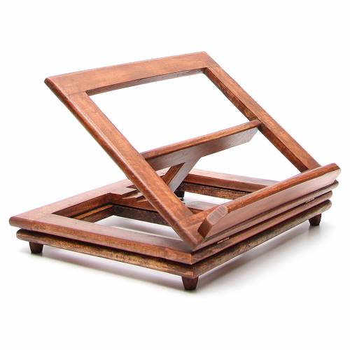 Rotating wooden book-stand s2