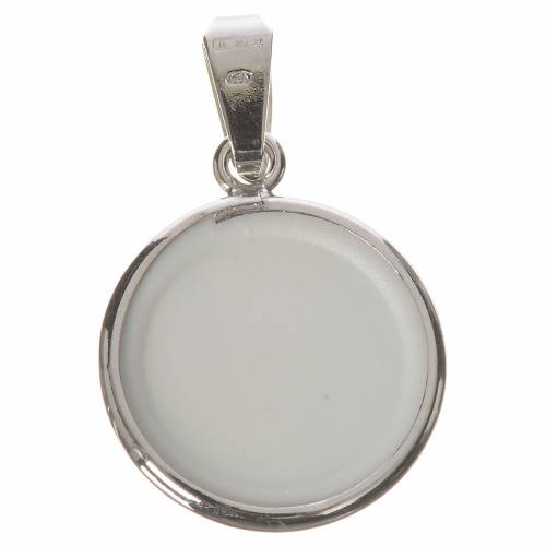 Round medal in silver, 18mm Our Lady by Ferruzzi s2