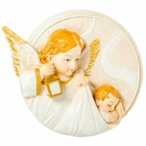 Bonbonnière: Round painting Angel 10cm