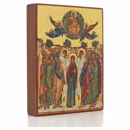 Russian icon, Assumption of Mary 14x11cm s2