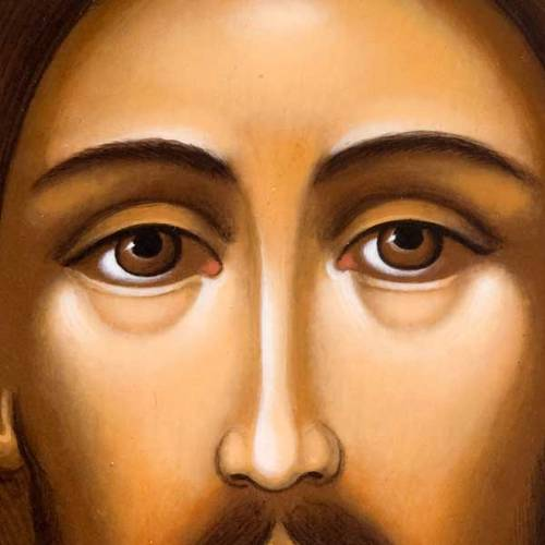 Russian icon Christ Pantocrator, face s2