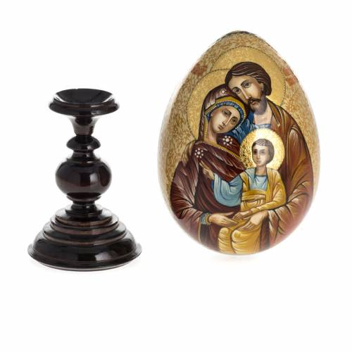 Russian icon egg, Holy Family s9