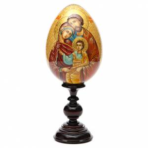 Russian icon egg, Holy Family s1
