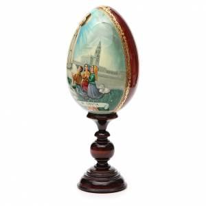 Handgemalte Russische Eier: Russische Ei-Ikone Gottesmutter von Fatima mit Kinder 36cm HANDGEMALT
