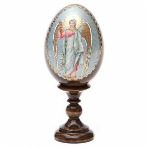 Handgemalte Russische Eier: Russische Ei-Ikone Schutzengel 13cm Decoupage
