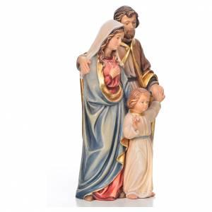 Sacra Famiglia in piedi legno dipinto Val Gardena s4