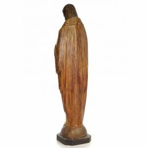 Sacred Heart of Jesus, 100cm in wood paste, chiselled effect dec s3