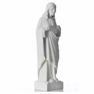 Sacro Cuore di Gesù marmo bianco 30-40 cm s4