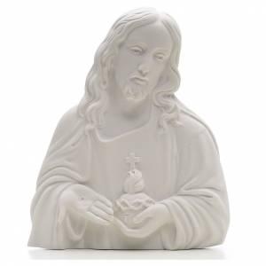 Sacro Cuore di Gesù marmo sintetico rilievo s1