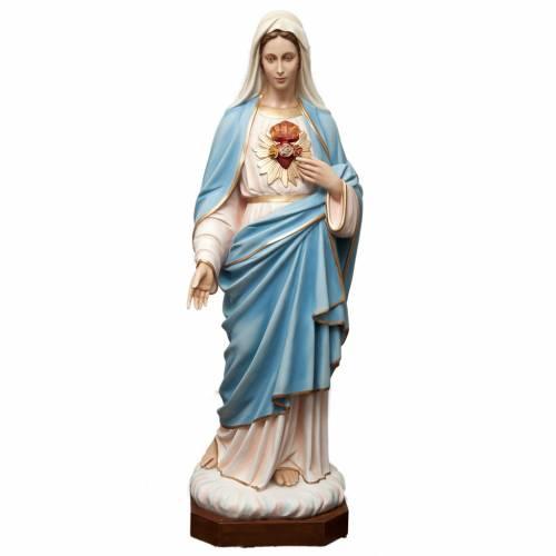 Sagrado Corazón de María 165 cm. fibra de vidrio coloreada s1