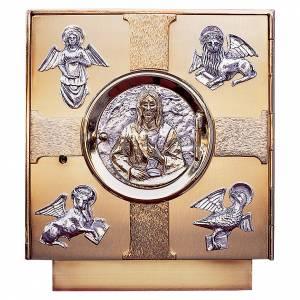 Sagrario de mesa latón fundido símbolos Evangelistas s1