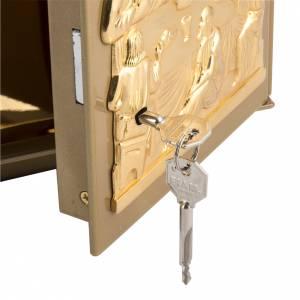 Sagrario de mesa Última Cena bronce dorado caja hierro s3