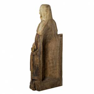 Saint Anne statue in old finishing painted wood 118 cm, Bethleem s4