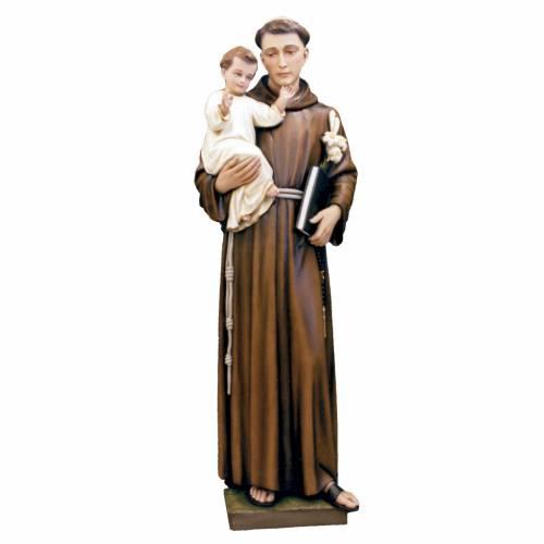 Saint Anthony of Padua statue in painted fiberglass, 160cm s1