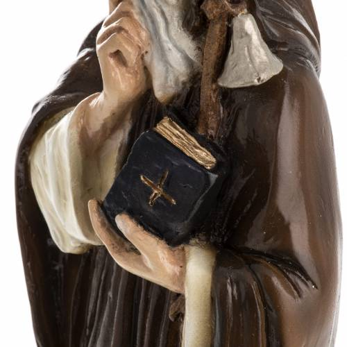 Saint Anthony the Abbot, 35 cm in painted Reconstituted marble s5