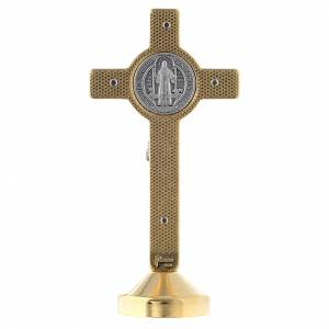 Saint Benedict crosses: Saint Benedict metal blue cross table