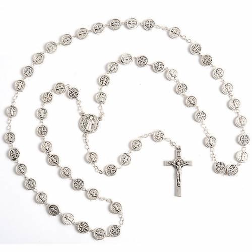 Saint Benedict metal rosary 1