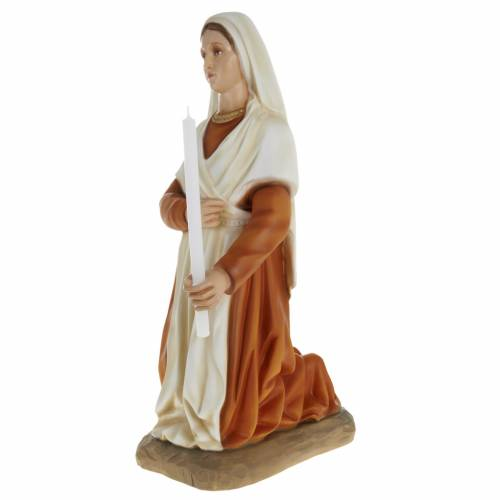 Saint Bernadette statue, 63cm in painted reconstituted marble s3
