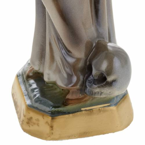Saint Francis of Assisi statue in plaster, 20 cm s3