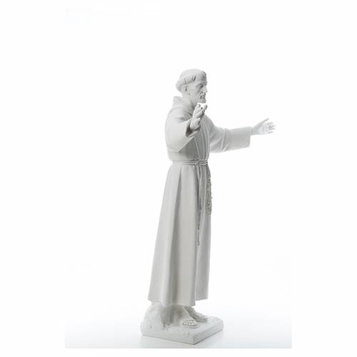 Saint Francis with open arms, 100 cm reconstituted marble statue s4