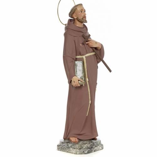 Saint François d'Assise 50 cm fin. simple pâte à bois s4