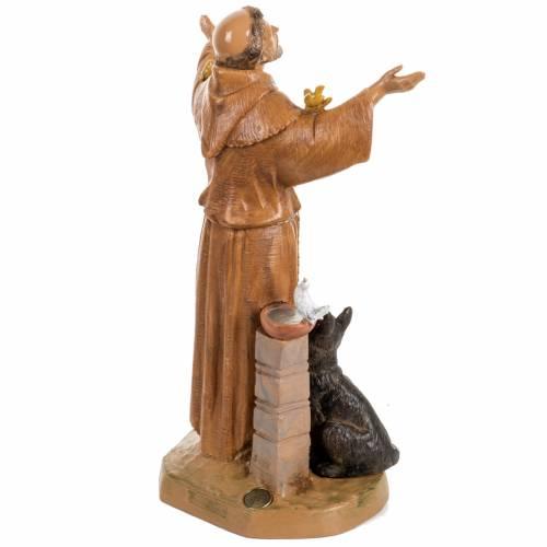 Saint Francois de Assisi 30 cm Fontanini finition bois s4