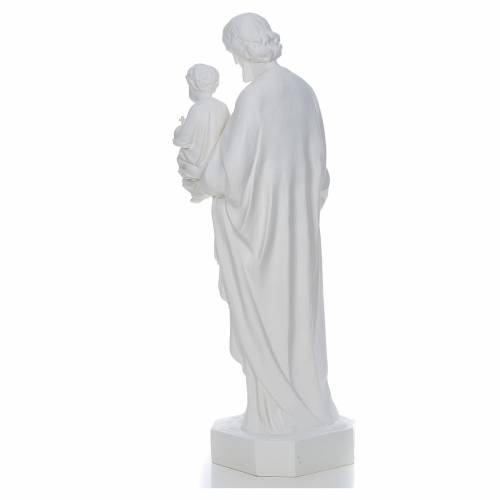 Saint Joseph with baby Jesus statue in white fiberglass, 130cm s3
