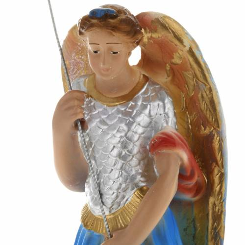 Saint Michael Archangel statue in plaster, 20 cm s2