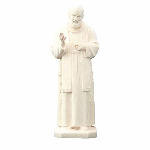Saint Pio de Pietrelcina en bois naturel s1