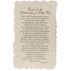 Holy cards: Saint Pio holy card with prayer in ENGLISH