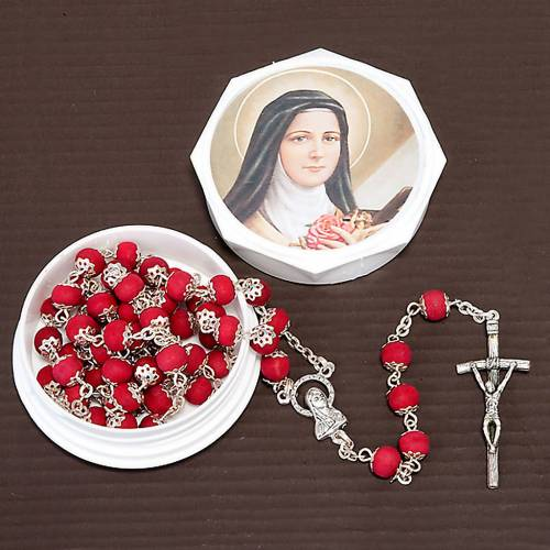 Saint Therese rose-scented rosary s2