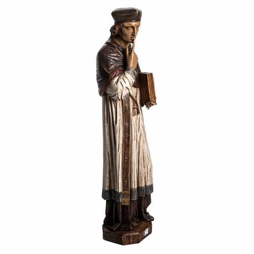 Saint Yves in stone, wood finish, Bethléem 63cm s2