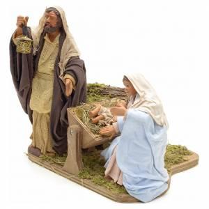 Sainte Famille animée crèche napolitaine 14 cm s3