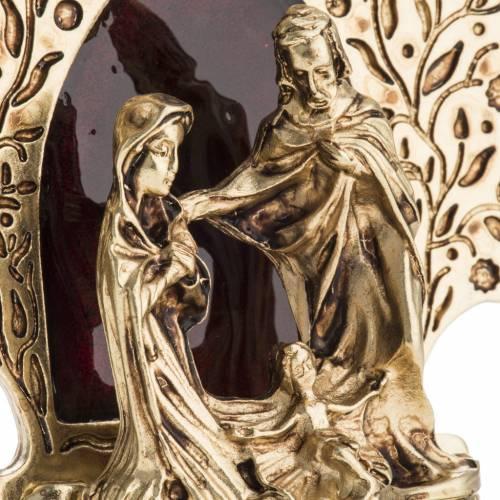 Sainte Famille décoration arbre 9x7.5 cm s3