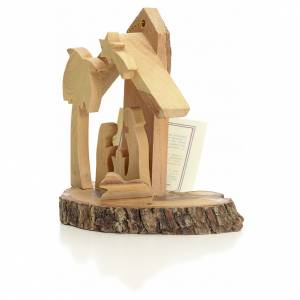 Sainte Famille pour sapin sur socle bois Terre Sainte s2