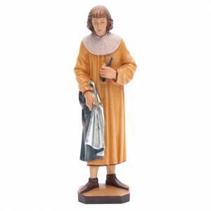 Statue in legno dipinto: San Cosimo con forcipe 25 cm legno dipinto Valgardena