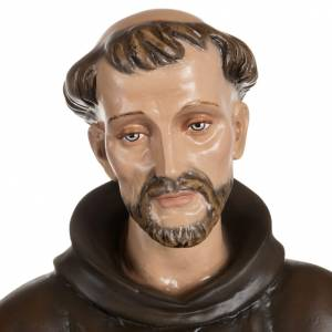 Statue in Vetroresina: San Francesco con colombe fiberglass 100 cm