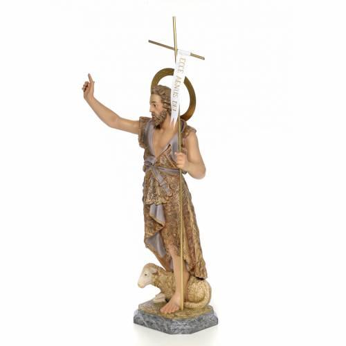 San Giovanni Battista 80 cm pasta di legno dec. elegante s2