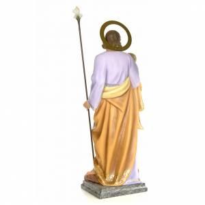 San Giuseppe con bambino 120 cm pasta di legno dec. elegante s4