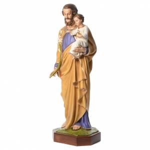 San Giuseppe con Bambino 160 cm vetroresina occhi cristallo s2