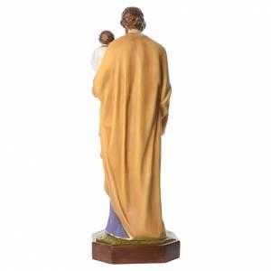 San Giuseppe con Bambino 160 cm vetroresina occhi cristallo s4