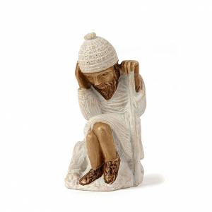Presepe Bethléem: San Giuseppe presepe d'Autunno bianco dipinto