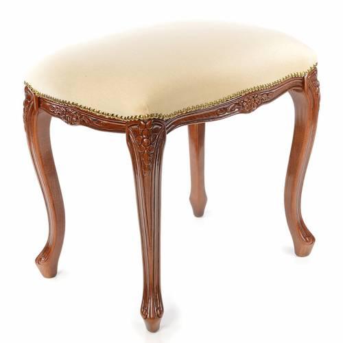 Sanctuary stool with white velvet s3