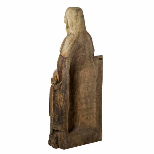 Sant'Anna con Maria 118 cm legno finitura antico Bethléem s4