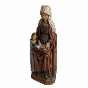 Sant'Anna con Maria Bambina 33 cm legno dipinto s3