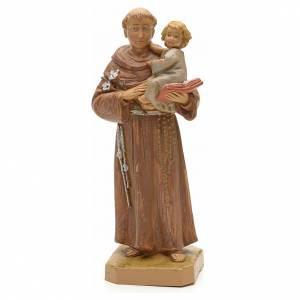 Statue in resina e PVC: Sant'Antonio da Padova con bambino 18 cm Fontanini