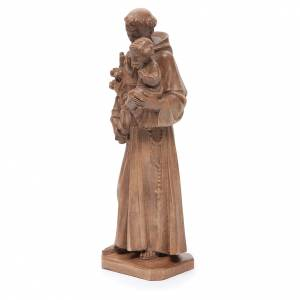 Sant'Antonio con bimbo legno Valgardena patinato s2
